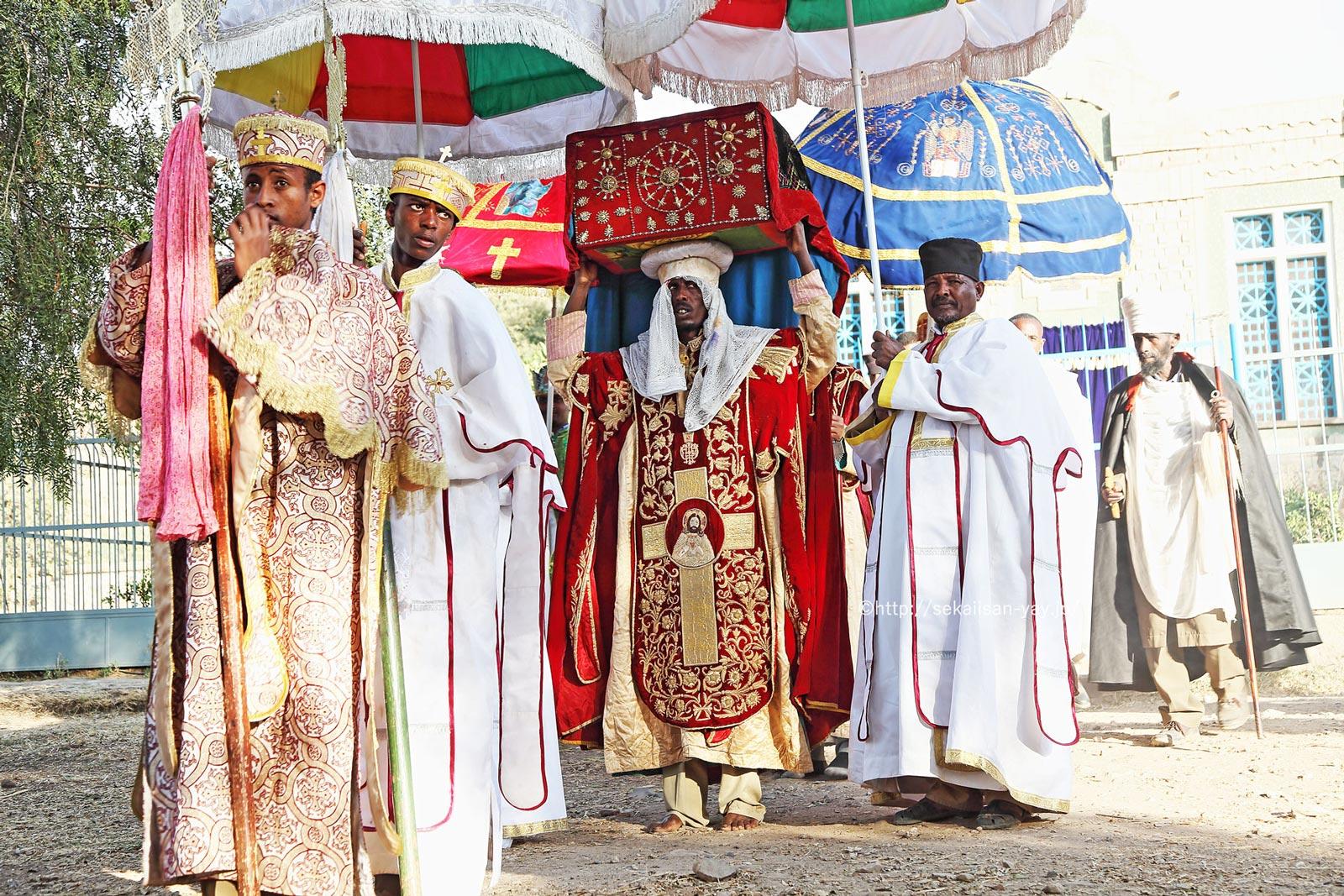 エチオピア「アクスム」ティムカット(トゥムカット)祭の契約の箱(アーク)