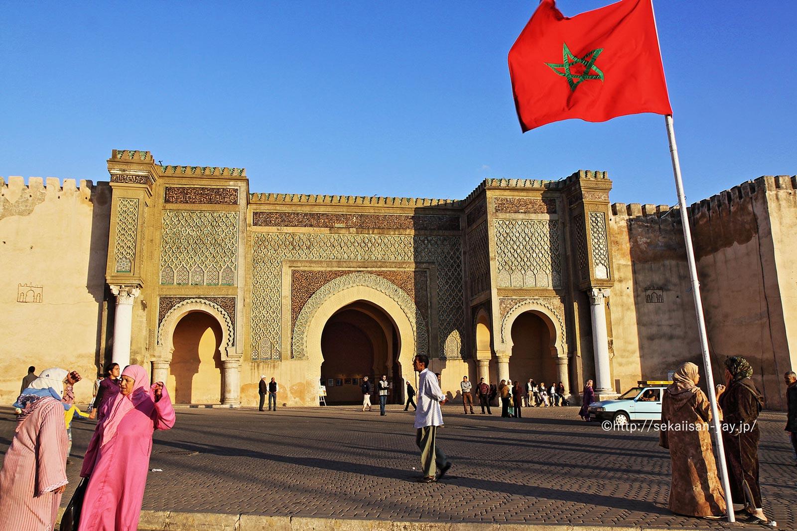 モロッコ「古都メクネス」マンスール門