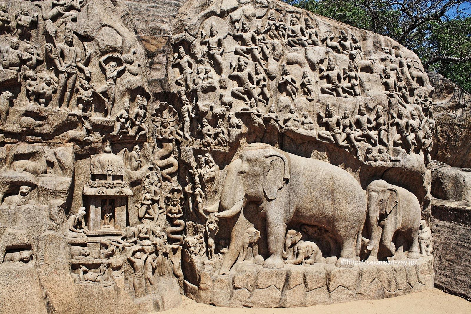 インド「マハーバリプラムの建造物群」