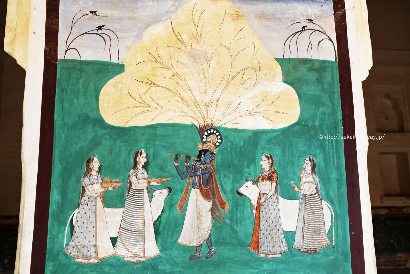 ラージャスターンの丘陵要塞群(ジャイプールのアンベール城)- ザナーナー・マハル(ハーレム)