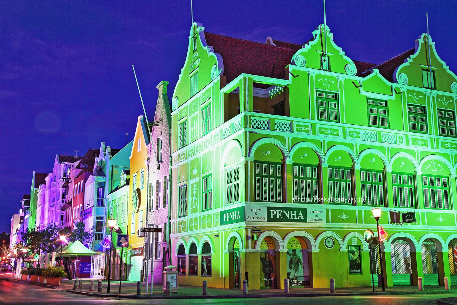 オランダ(キュラソー島@カリブ海)「港町ヴィレムスタット歴史地域」