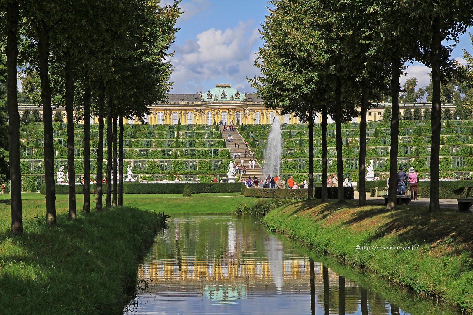 ドイツ「ポツダムとベルリンの宮殿群と公園群」- サンスーシ宮殿