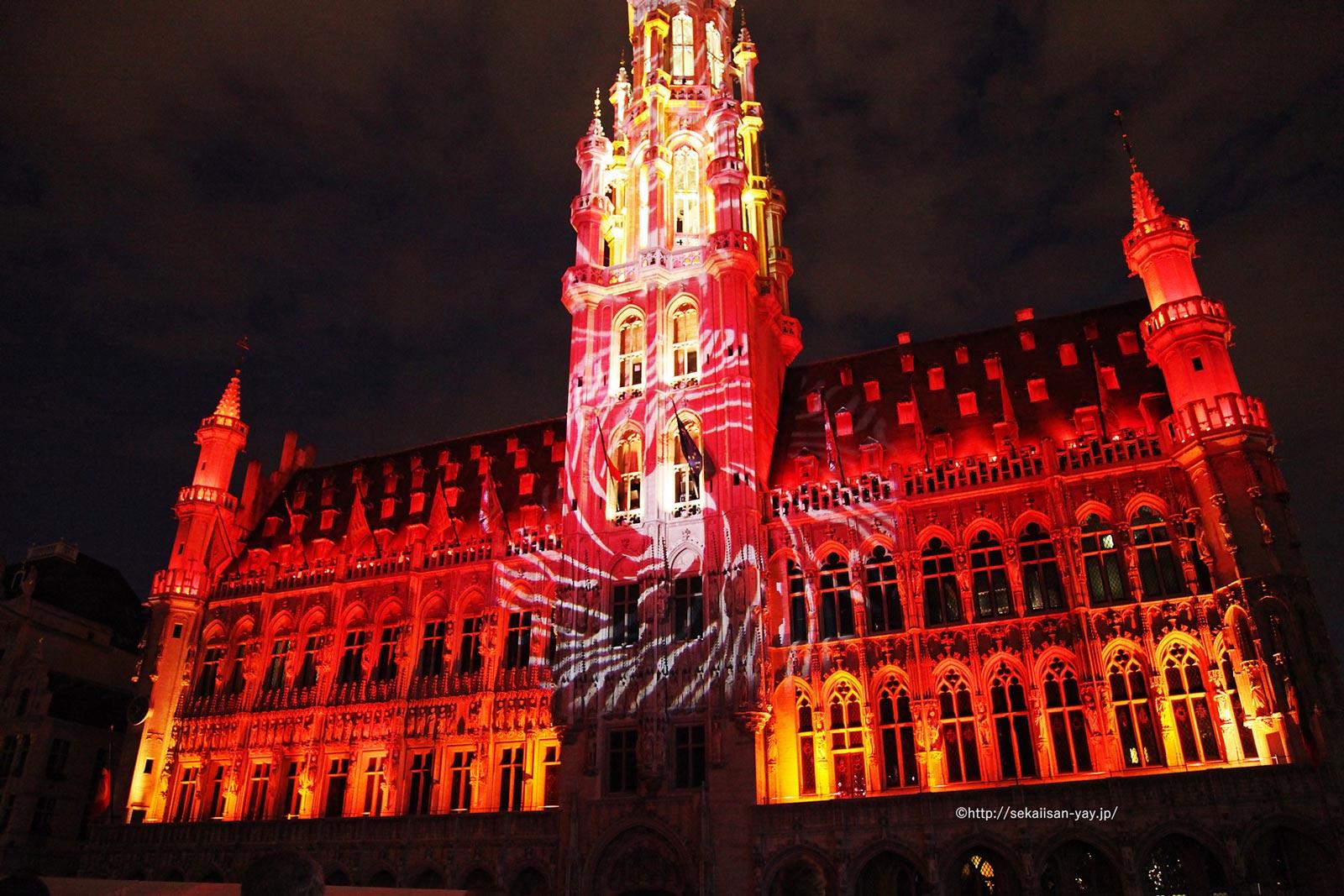 ベルギー「ブリュッセルのグラン-プラス」夜景
