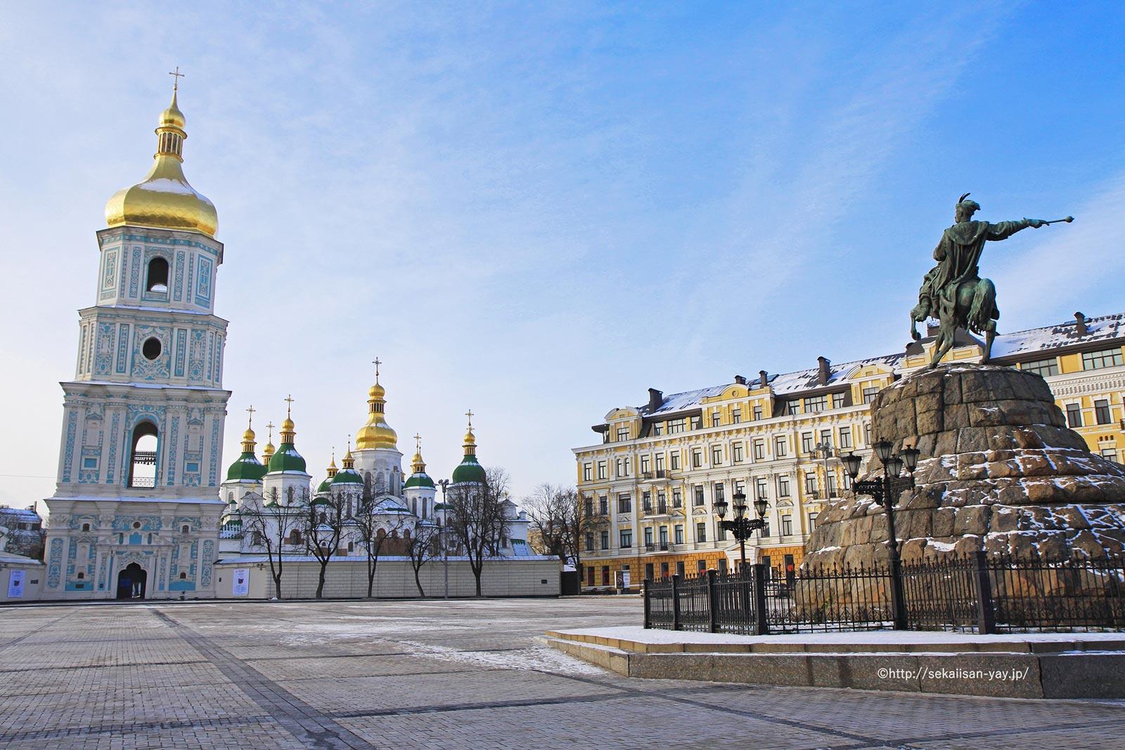 ウクライナ「キエフ:聖ソフィア大聖堂と関連する修道院建築物群、キエフ-ペチェールスカヤ大修道院」