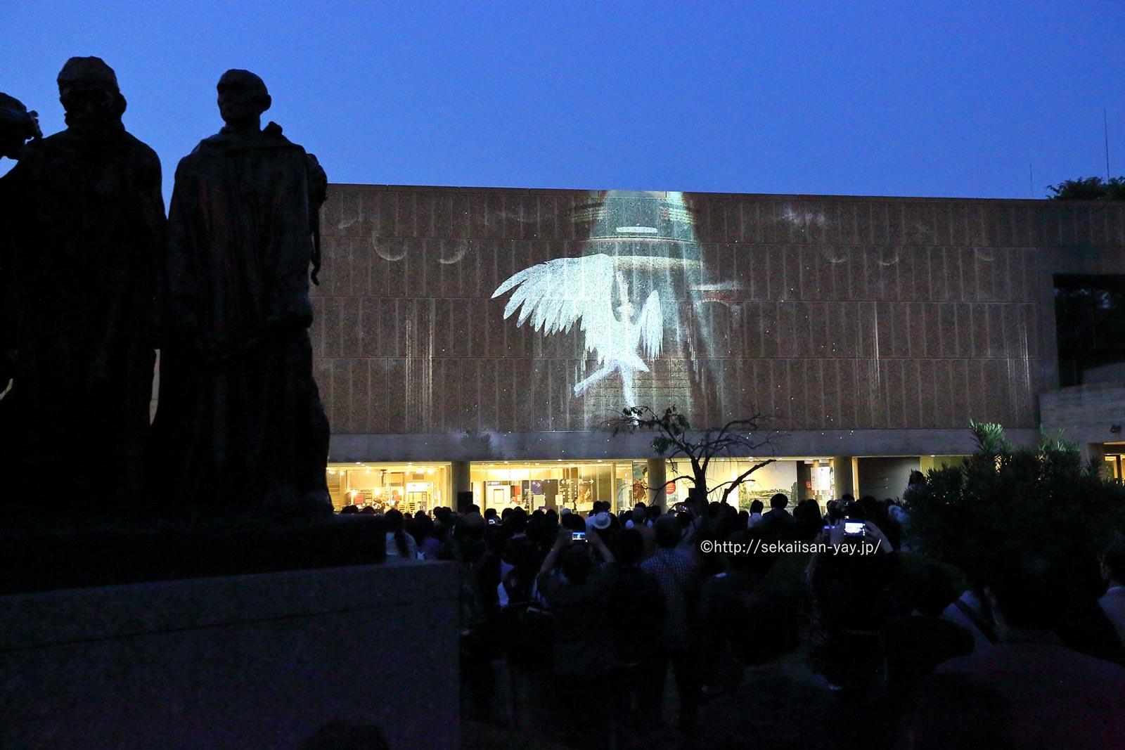 日本「国立西洋美術館本館」プロジェクションマッピング