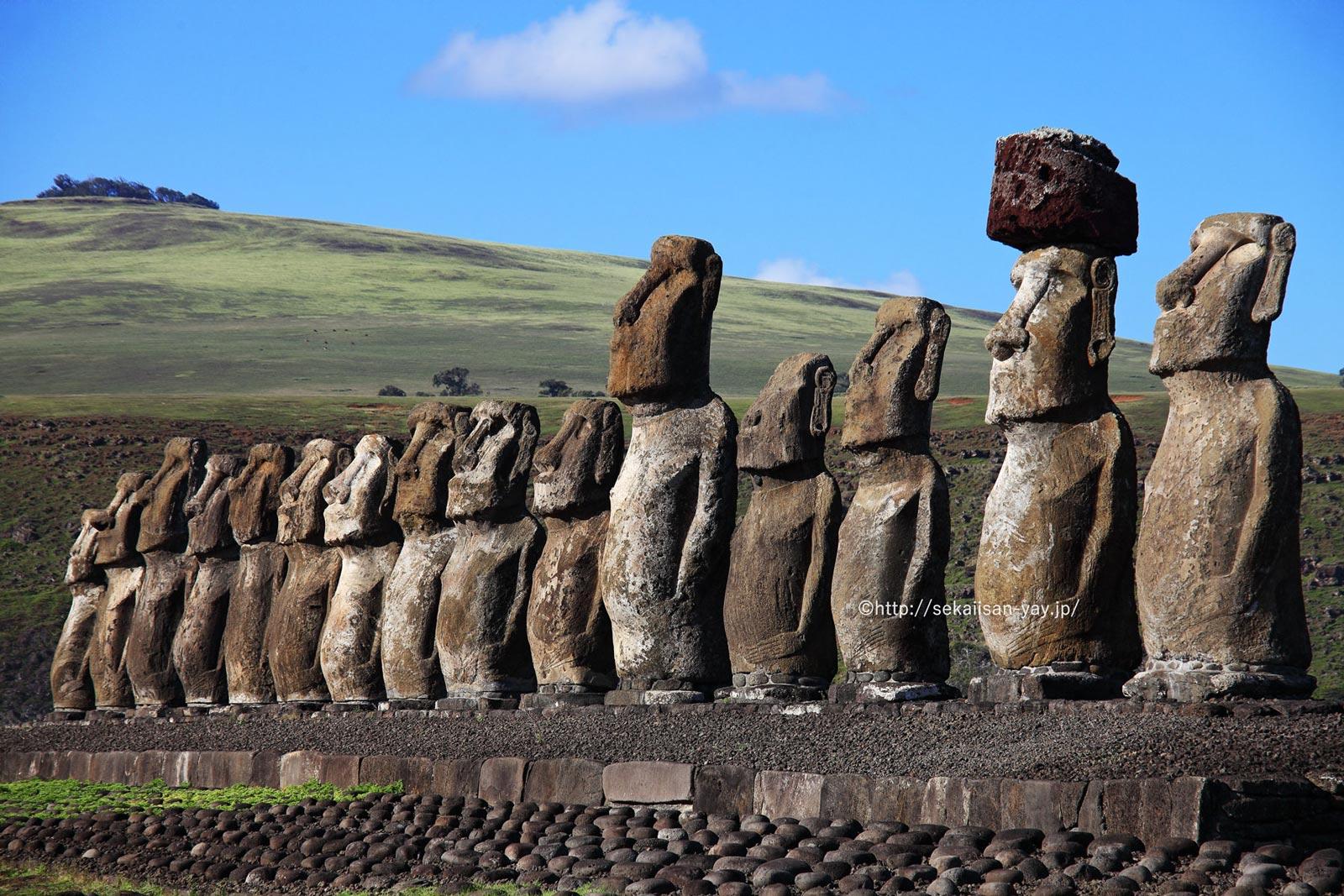 チリ「ラパ・ヌイ国立公園」(イースター島・モアイ)
